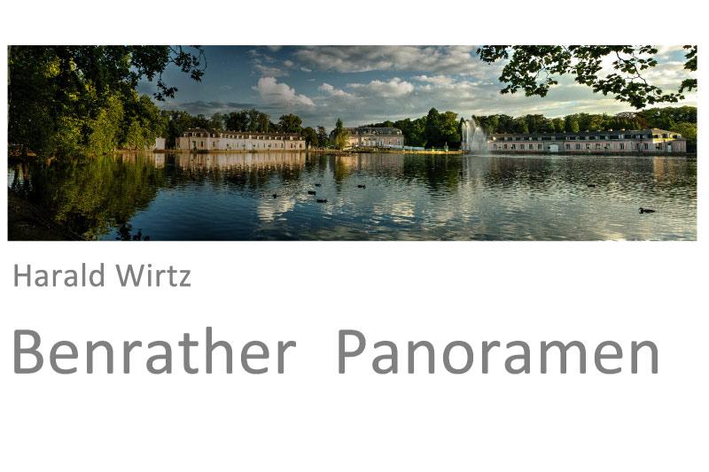 Harald Wirtz - Benrather Panoramen. Pigmentdrucke, Galerie Schwarzweiß, Düsseldorf.